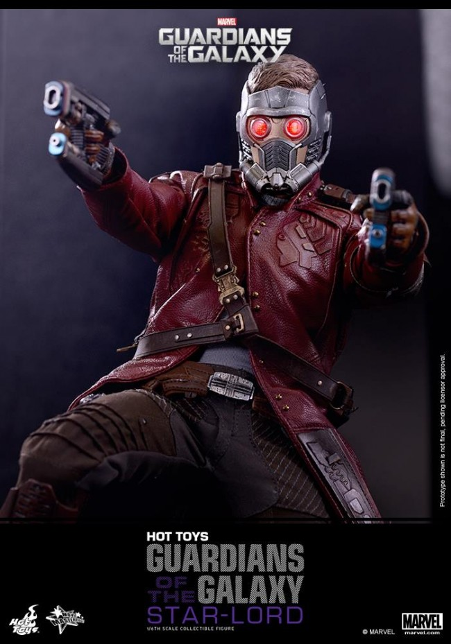 Star lord guardians of the galaxy hottoys mms255 1 6th scale