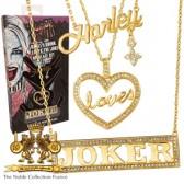 1:1 Harley Loves Joker Halsketten Set - Replik - Noble Collection