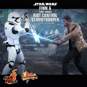 Finn and First Order Riot Control Stormtrooper - Star Wars 7