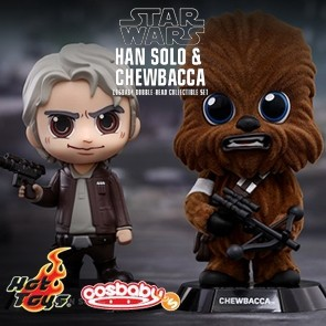 Han Solo & Chewbacca - Cosbaby (S)-Bobble-Head - Set - Hot Toys