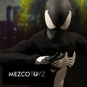 1/12 Black Suit Spider-Man - Exclusive - Mezco Toys