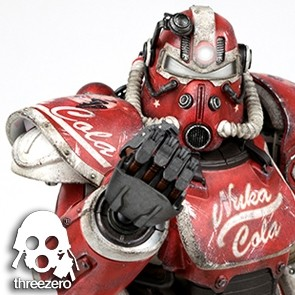 Fallout 4 - T-51 Power Armor Nuka Cola - Zubehör-Set - Threezero