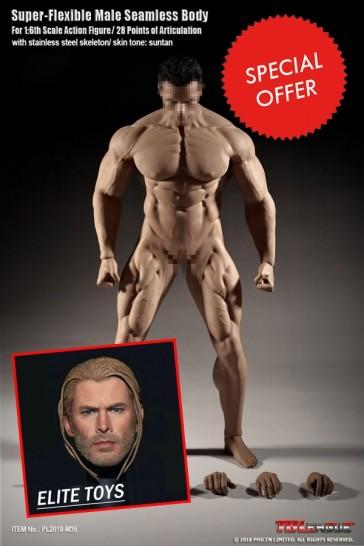 Scale Seamless Body Arnold Schwarzenegger Suntan Version - Super-Flexible
