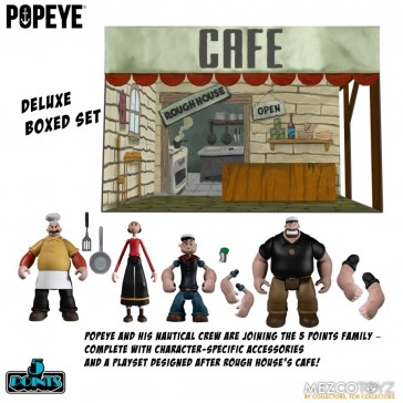 Mezco Toyz - Popeye - 5 Points Deluxe Box Set