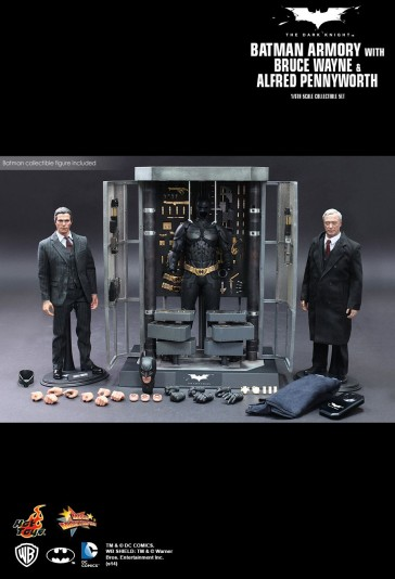Hot Toys - Batman Armory with Bruce Wayne and Alfred Pennyworth