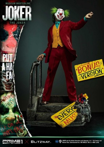 Prime 1 Studio - The Joker 2019 - Joaquin Phoenix - Museum Masterline Statue 1:3 - Bonus Version