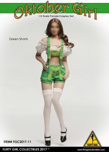 Flirty Girl - Female Oktober Girl Set - Green Shorts - FGC-2017-11