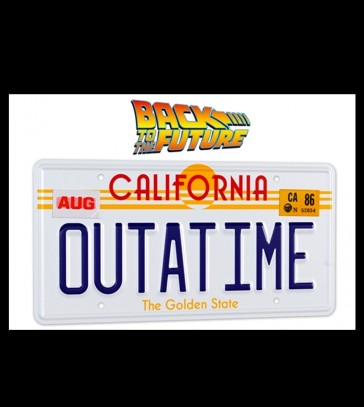 Doctor Collector - Back To The Future OUTATIME Licence Plate