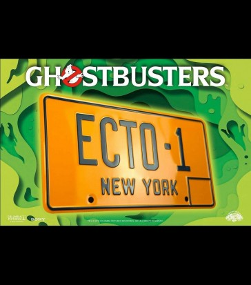 Doctor Collector - Ghostbusters Ecto-1 Licence Plate - Replica