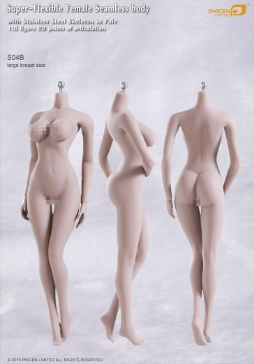 Phicen Female Seamless Body Large Breast Size Pale Series S04B