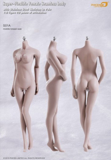 Phicen Female Seamless Body Middle Breast Size Pale Series S01A
