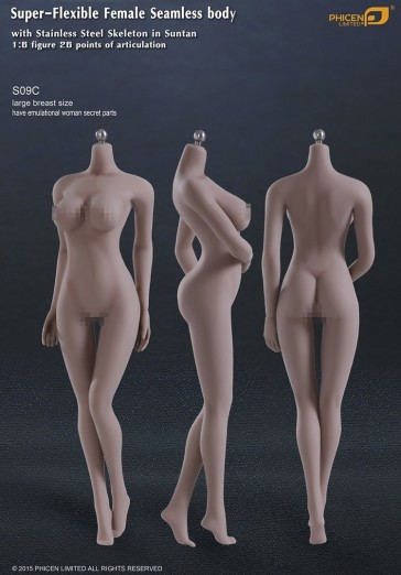Super-Flexible Female Seamless Body Large Breast Size Sutan Series S09C