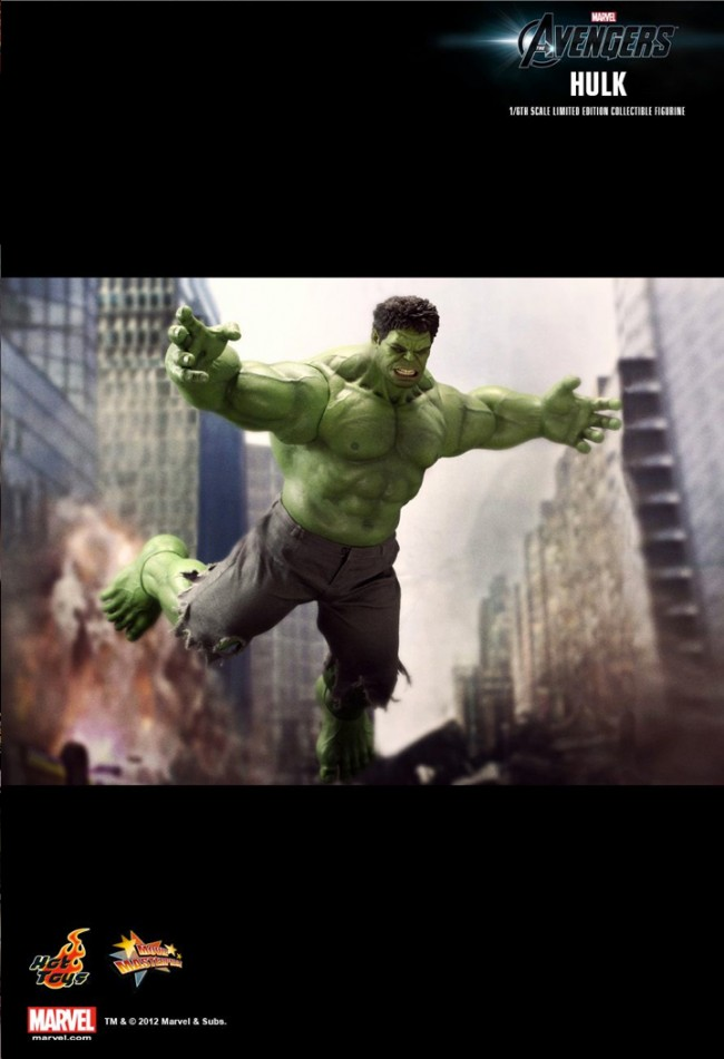 The Avengers Hulk Hot Toys Movie Masterpieces Incredible Figures