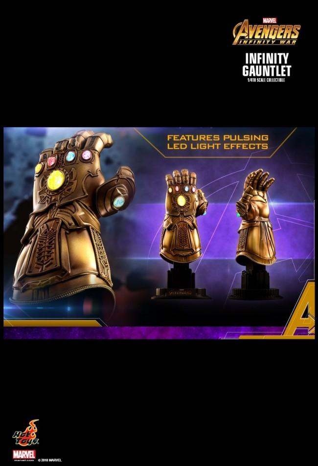 Infinity Gauntlet Von Hot Toys Aus Marvels Avengers 3 Infinity War Acs003 1 4 Scale Replica