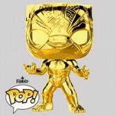 Funko Pop - Black Panther Gold Chrome Vinylfigur - Marvel MS 10 - 383