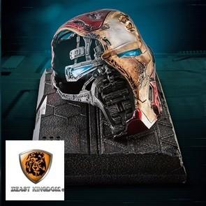 Beast Kingdom - Iron Man Mark 50 Battle Damaged Helm - Avengers Endgame - Mastercraft Staue