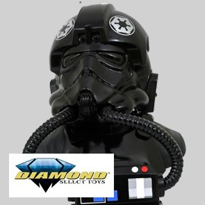 Diamond Select - TIE Fighter Pilot Bust - 1/2 Scale Bust - Legends in 3D