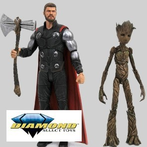 Diamond Select - Thor & Groot - Marvel Actionfiguren