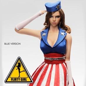 Flirty Girl - U.S.O. Cosplay - Female Clothing Set - Blue - FGC-2016-1