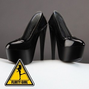 Flirty Girl - Female High Heels Plateau - Black