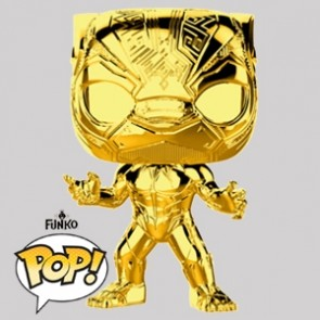 Funko Pop - Black Panther Gold Chrome Vinylfigur - Marvel MS 10 - 383