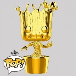 Funko Pop - Groot Man Gold Chrome - Marvel MS 10 - 378