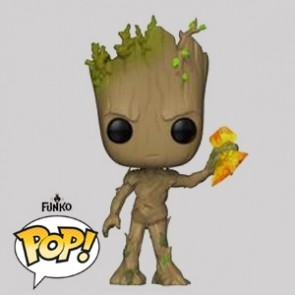 Funko Pop - Groot with Stormbreaker - Vinylfigur - 416