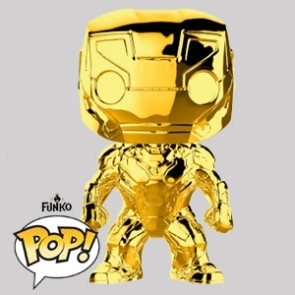 Funko Pop - Iron Man Gold Chrome - Marvel MS 10