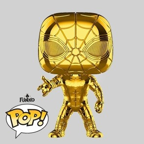 Funko Pop - Iron Spider - Gold Chrome Vinylfigur - Marvel MS 10 - 440