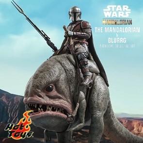 Hot Toys - Mandalorian & Blurrg - Star Wars: The Mandalorian - Collectible Set