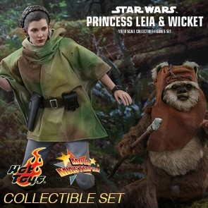 Hot Toys - Princess Leia & Wicket - Star Wars - Return of the Jedi - Collectible Set