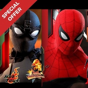 Special Offer Hot Toys Spider-Man Stealth Suit MMS541 + Spider-Man - Upgraded Suit MMS542