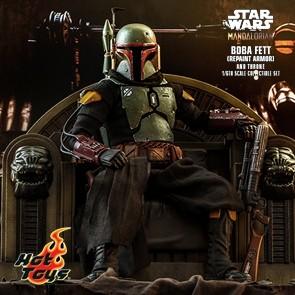 Hot Toys - Boba Fett Repaint Armor & Throne- Star Wars: The Mandalorian