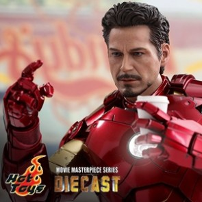 The Mark IV with Suit-Up Gantry - Iron Man 2  - Diecast - Hot Toys