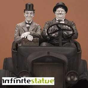 Infinite - Laurel & Hardy on Ford Model T - Statue 1:12 - Cars Legacy Collection