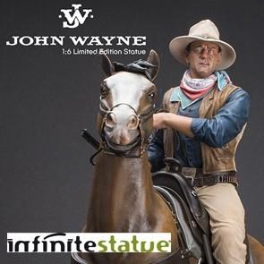 Infinite - John Wayne on Horse - Old & Rare Statue