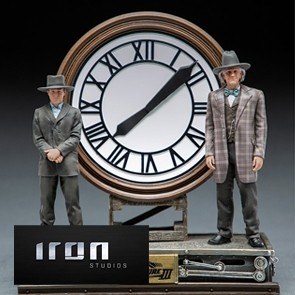 Iron Studios - Marty and Doc at the Clock - Back to the Future Part II - Deluxe