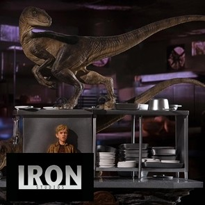 Jurassic Park Art Scale Diorama - 1/10 Velociraptors in the Kitchen - Iron Studios
