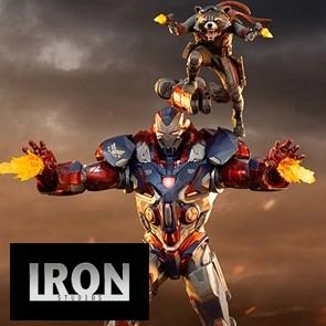 Iron Studios - Iron Patriot & Rocket - Avengers: Endgame - BDS Art Scale Statue