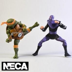 NECA - Michelangelo vs Foot Soldier - Teenage Mutant Ninja Turtles