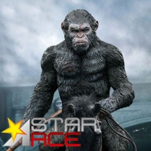 Star Ace - Caesar - Spear Version - Dawn of the Planet Apes - Soft Vinyl Statue