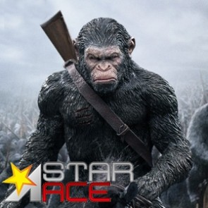 Star Ace - Caesar with Gun - Dawn of the Planet Apes - Soft Vinyl Statue